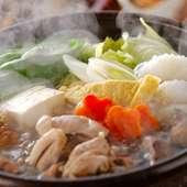 地鶏のちゃんこ鍋をメインに、リーズナブルにご宴会をお楽しみいただける内容となっております。
