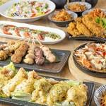 前菜から甘味まで充実したお料理内容のおすすめ宴会コース。各種宴会におすすめです。クーポン利用で3000円