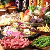 ☆特上ラム肉と季節野菜を鉄板で召し上がって頂きます♪