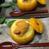 雲子の柚子釜蒸し