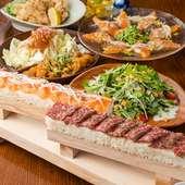 ロング炙り肉寿司食べ放題コース