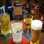 ビールやハイボールは勿論、ワイン、焼酎、カクテルなど幅広いドリンクが揃う飲み放題もございます!当店自慢の洋食と一緒にお楽しみください!