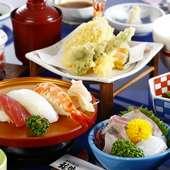 ランチ1番人気の「福伸ご膳」は、色々味わえる欲張りメニュー
