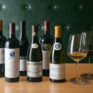 イタリア産を中心に各国のものを常時60種類以上、揃えています。またワイングラスは260年以上の歴史がある「リーデル」社のものを使用。おいしいワインを提供するためのこだわりが、グラスにもあります。
