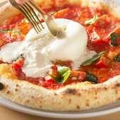 イタリアから空輸するブラータチーズが決め手の『マルゲリータブラータ』