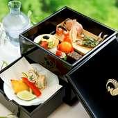 旬の食材を使い繊細で緻密に表現する職人技『口代り 万葉箱』