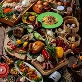 洋食や中華などバラエティ豊かなビュッフェメニュー
