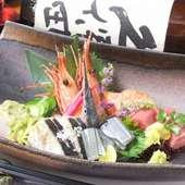 鮮魚と貝の6種盛り(1人前)