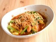 国産の豚ロース肉と野菜を重ねて揚げました。柔らかい豚肉と野菜のハーモニーをお楽しみ下さい。
