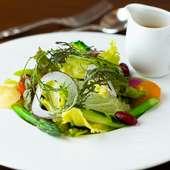 健康意識の高いゲストも大満足。ヘルシーで、彩り豊かな野菜が魅力の『サラダランチ』