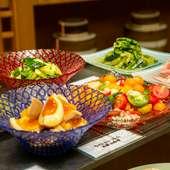 滋賀産の夏野菜を中華の技法を使い仕上げた『チャイナおばんざい』
