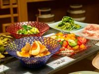 近江野菜を中華の技法を使い仕上げた冷菜盛り合わせ