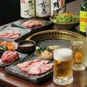 季節のご宴会にも最適なコースをご用意!絶品肉をご堪能あれ