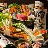 特製カキ鍋付き料理8品『幕内プラン』